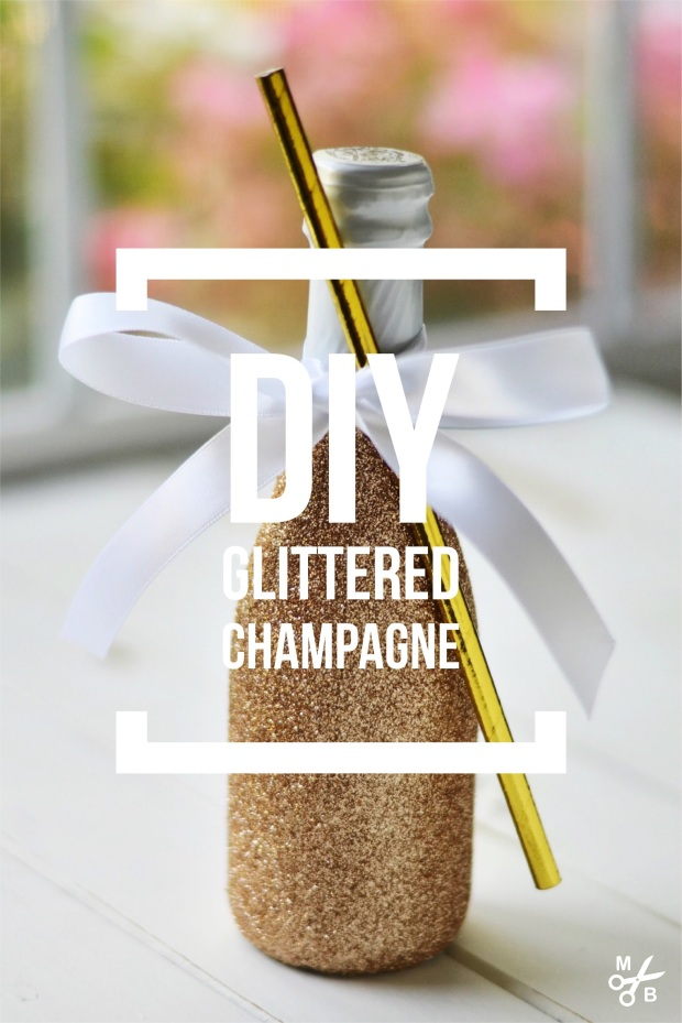 DIY Glittered Champagne Bottle | Minted Bold