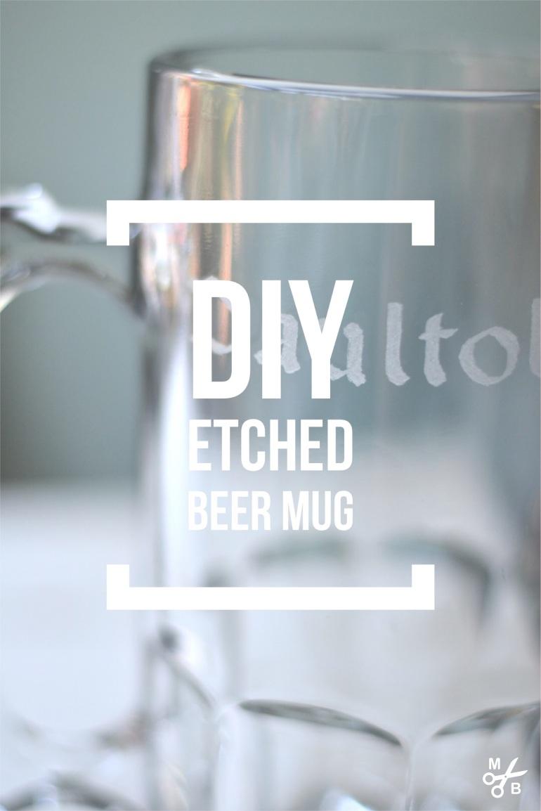 DIY Etched Beer Mug | Minted Bold
