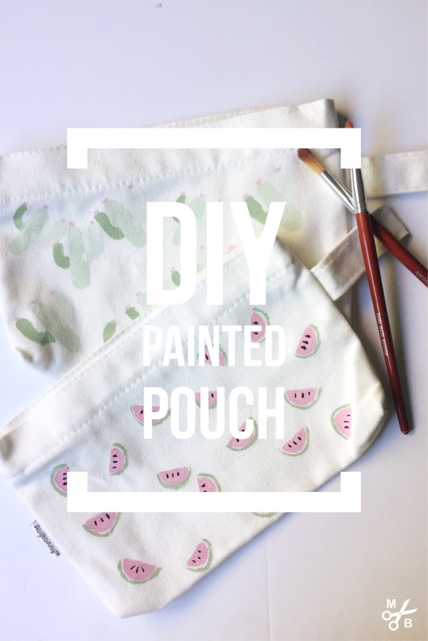 DIY Painted Pouches: Minted Bold