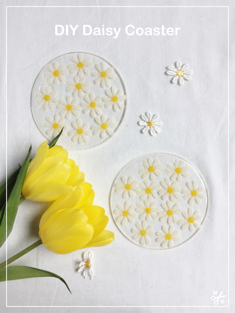 This DIY daisy coaster is perfect for spring! | Minted Bold