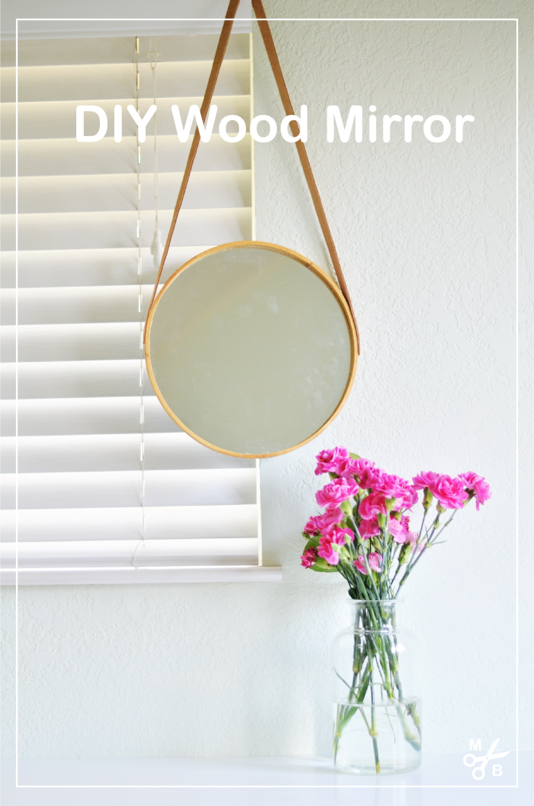 This DIY wood and leather mirror is simple and chic! | Minted Bold
