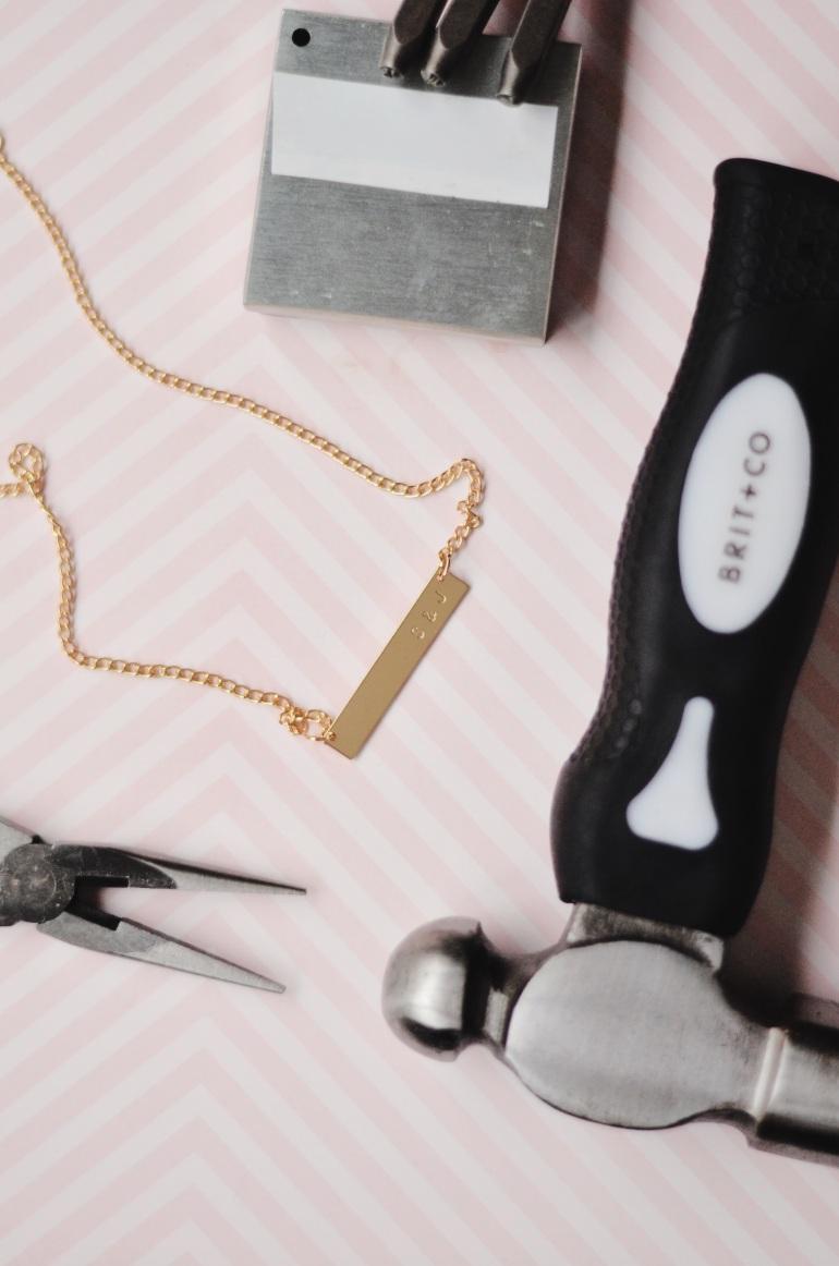 Brit & Co Metal Stamp a Necklace Kit