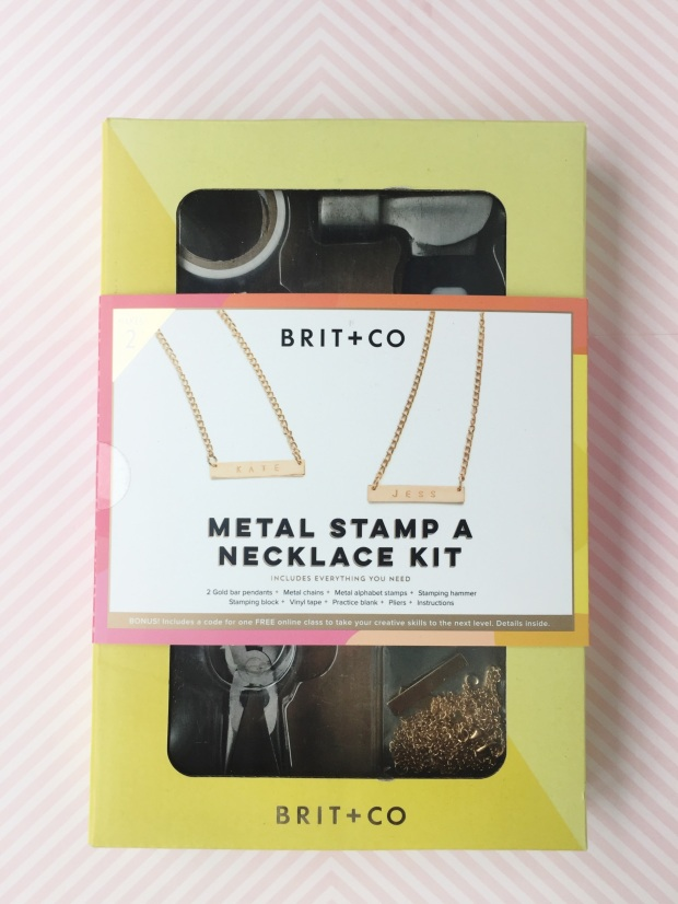 Brit & Co Metal Stamp a Necklace Kit