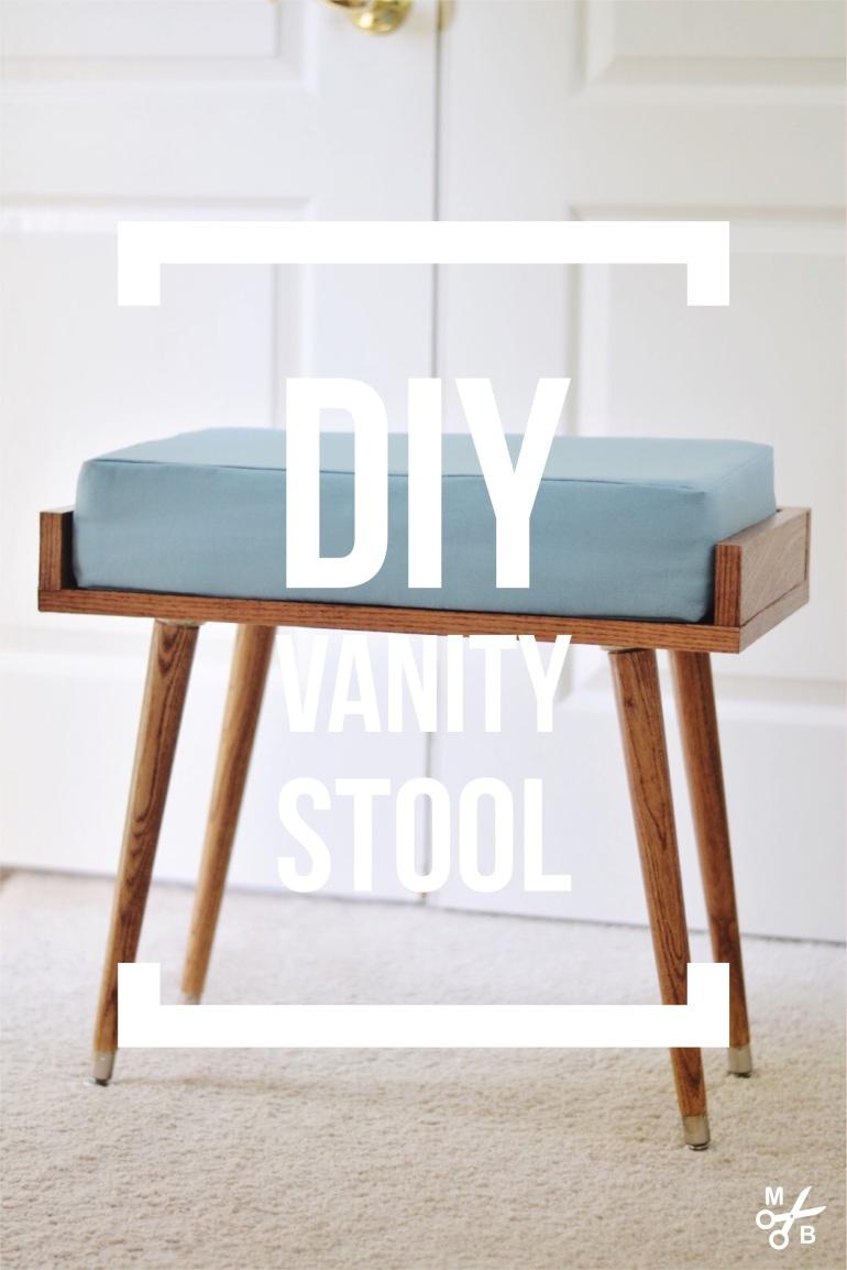 DIY Vanity Stool   Minted Bold