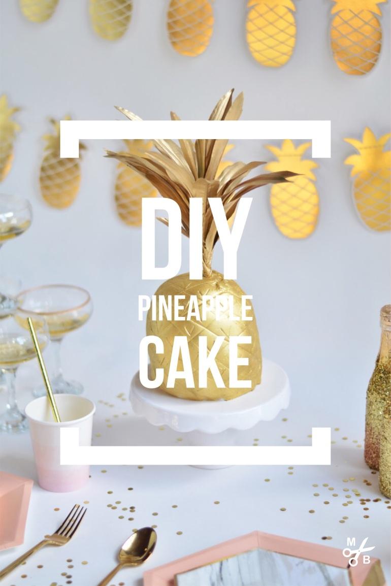 DIY Golden Pineapple Cake | Mined Bold