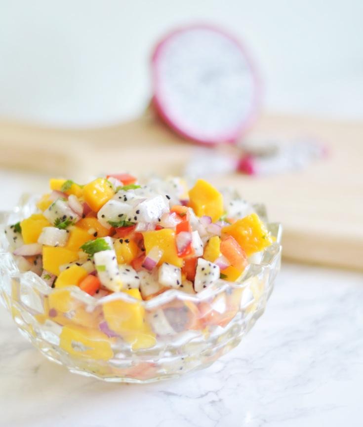 Dragon Fruit Mango Salsa | Minted Bold