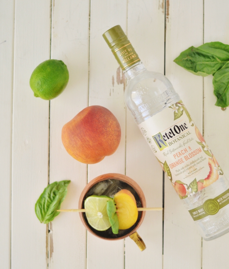 Peach Basil Summer Mule | Minted Bold